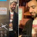 Bruno-Fernandes-Manchester-United-flight-airport-spotted
