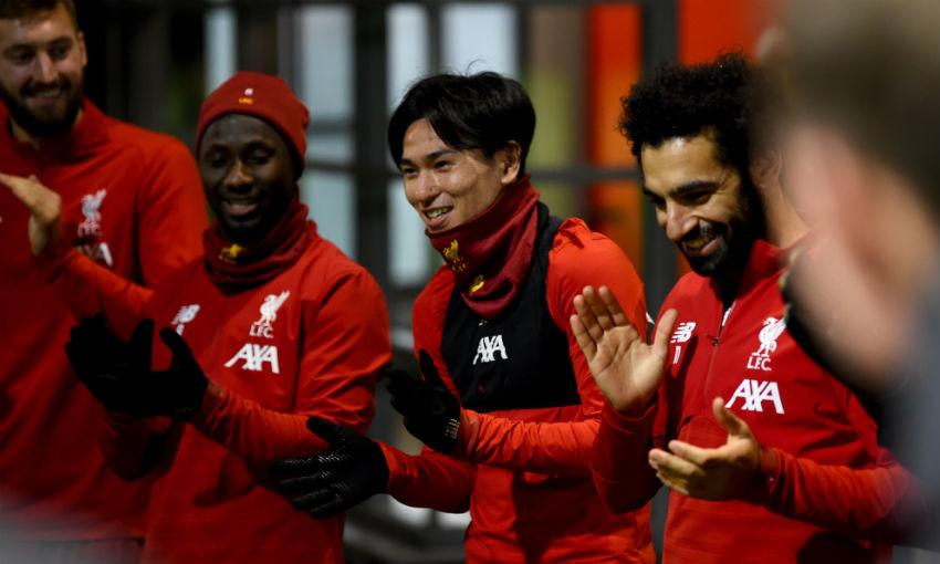 takumi-minamino-adrian-liverpool-training-session