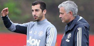 henrikh-mkhitaryan-jose-mourinho-manchester-united