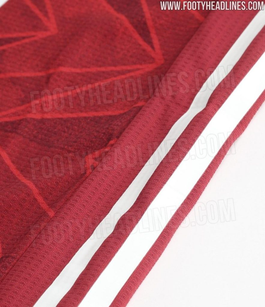 Arsenal 20 21 Home Kit Leak Close Up