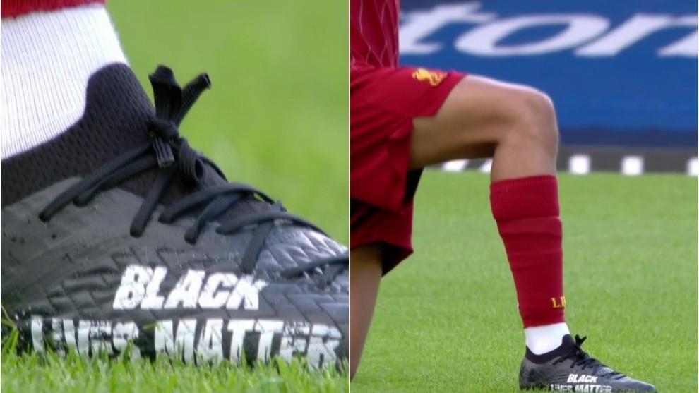 alexander-arnold-wears-black-lives-matter-boots-vs-everton