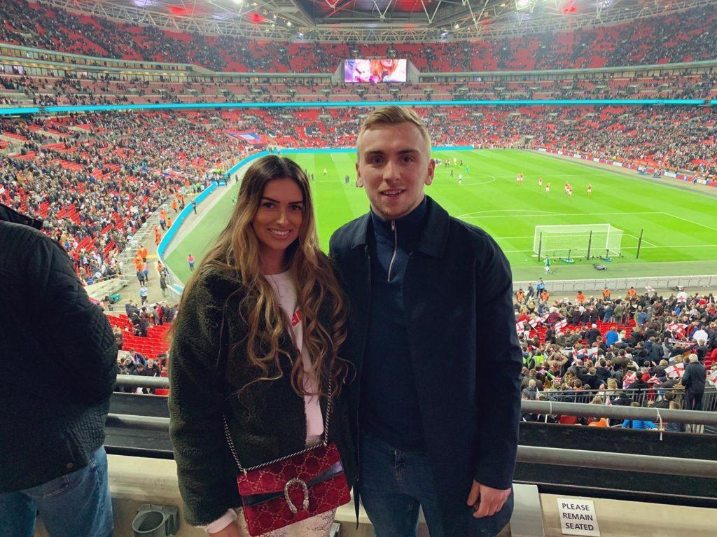 Bowen with girlfirend Jaz at FIFA World Cup