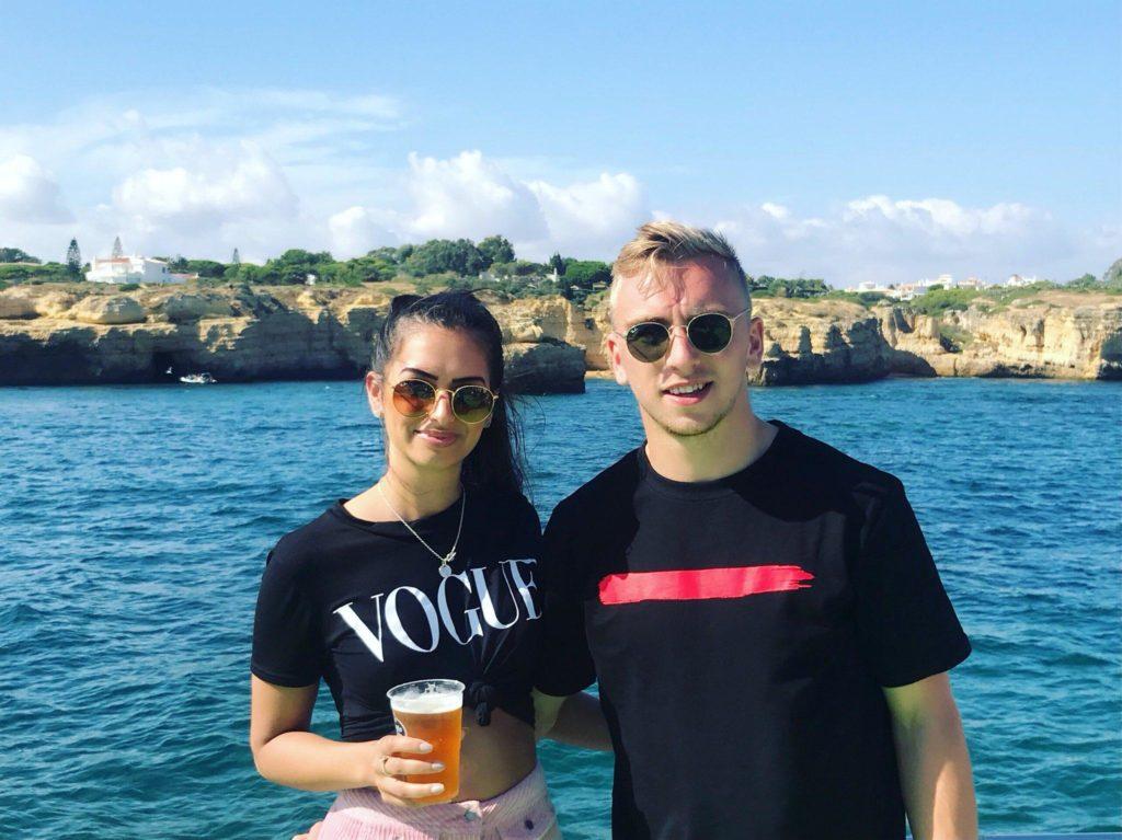 Jarrod-Bowen-with-Girlfriend-Jaz-pm-Vacation