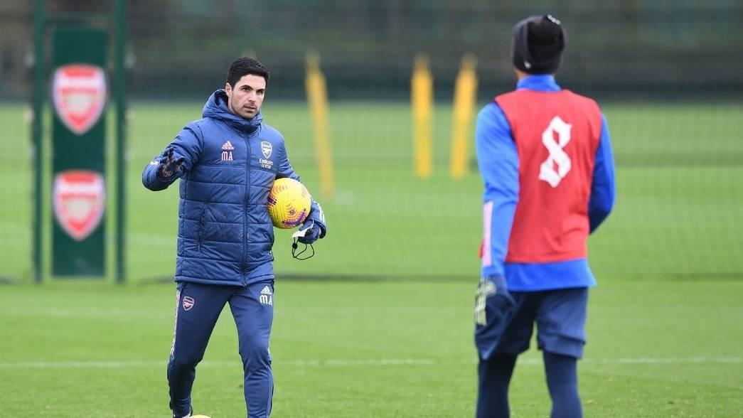 MikelArteta-Arsenal-Training