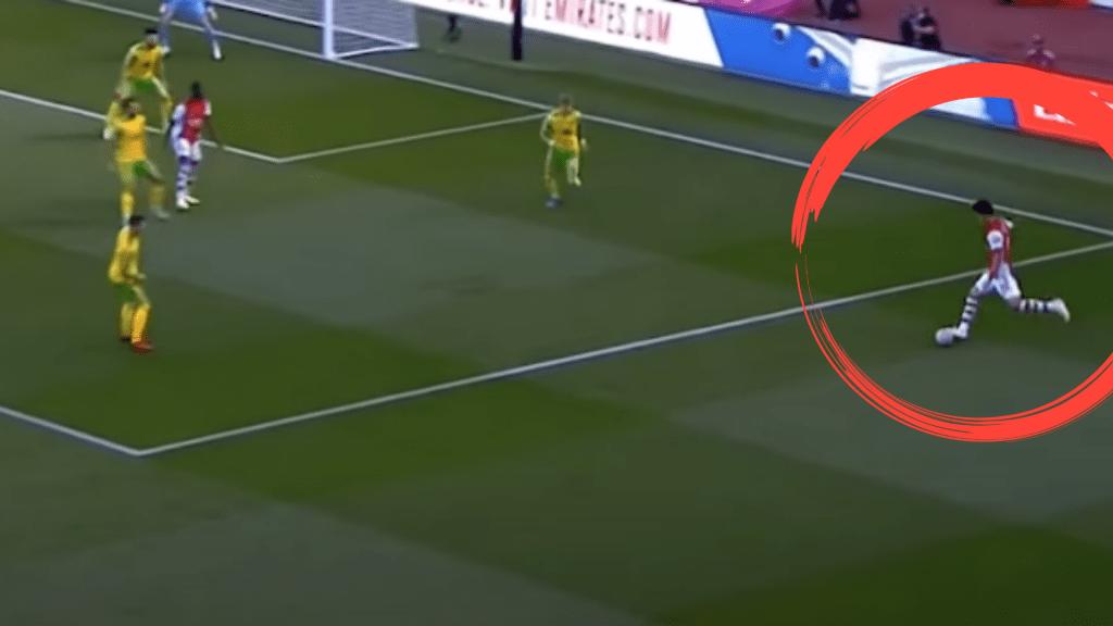 Takehiro-Tomiyasu-Crossing-Arsenal-Analysis-vs-Norwich-City